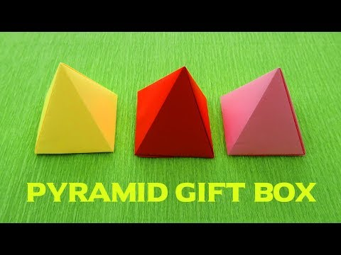 Origami Pyramid gift box | How to make a paper box | Origami box | paper box