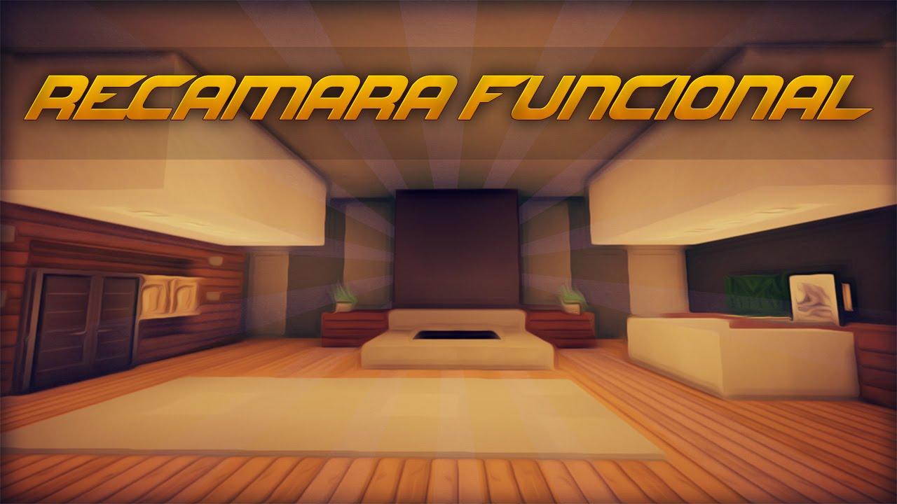 Recamara cuarto moderno funcional tutorial de decoracion en un minuto 4 youtube - Minecraft schlafzimmer ...