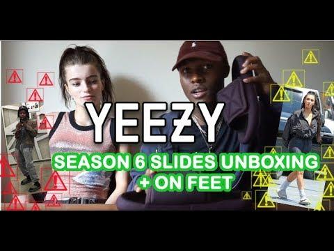 09877ce69f807 YEEZY SEASON 6 SLIDES UNBOXING   ON FEET + REVIEW!!! (FT. YZY DESERT RAT  BOOTS + VISVIM CHRISTO)