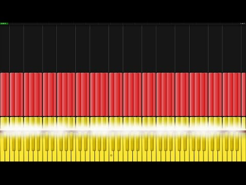 German National Anthem [Piano Tutorial] (Synthesia)