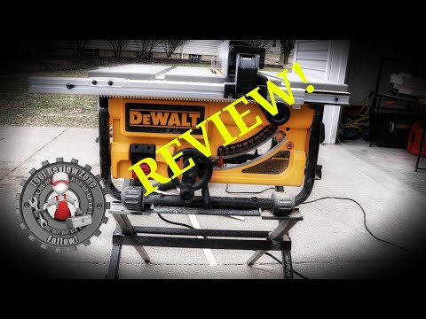 DEWALT  15-Amp Corded 10 in. Compact Job Site Table Saw REVIEW! DW745S  #tablesaw #toolreviews #tool