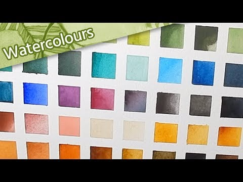 🎨 Swatching my Updated Watercolour Collection 🖌 // Mary Sanche