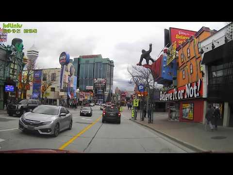 Driving On Victoria Ave To Clifton Hill, Niagara Falls Ontario