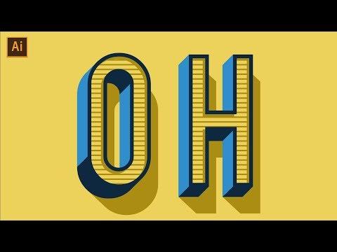 Vintage/Retro Text Effect Tutorial | Adobe Illustrator