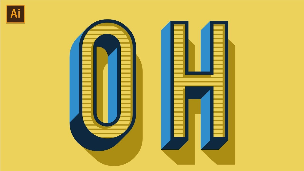 Vintage/Retro Text Effect Tutorial | Adobe Illustrator