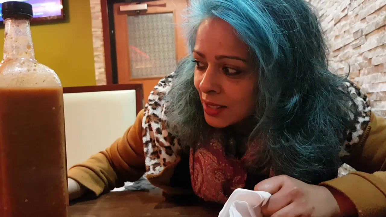 Eating out at fantastic Indian restaurant.