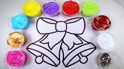 JINGLE BELLS Paint Coloring Page for Kids with GLITTER!! Festive CHRISTMAS HOLIDAY COLORING PAGES!