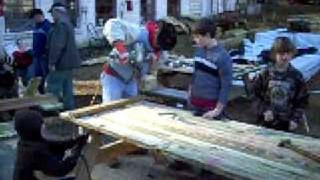 Picnic Table Construction - Jingle Bell Beaver Day 2008 (pt 1)