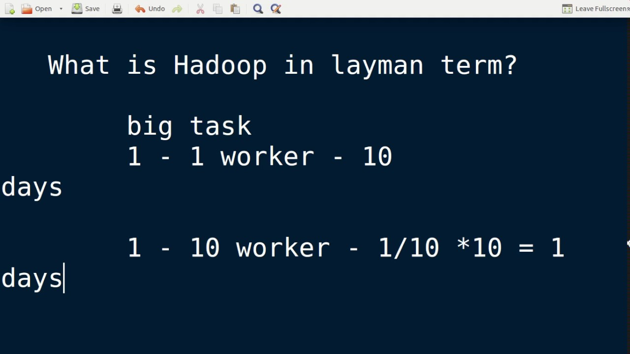 Big Data interview question - What is Hadoop in layman term?