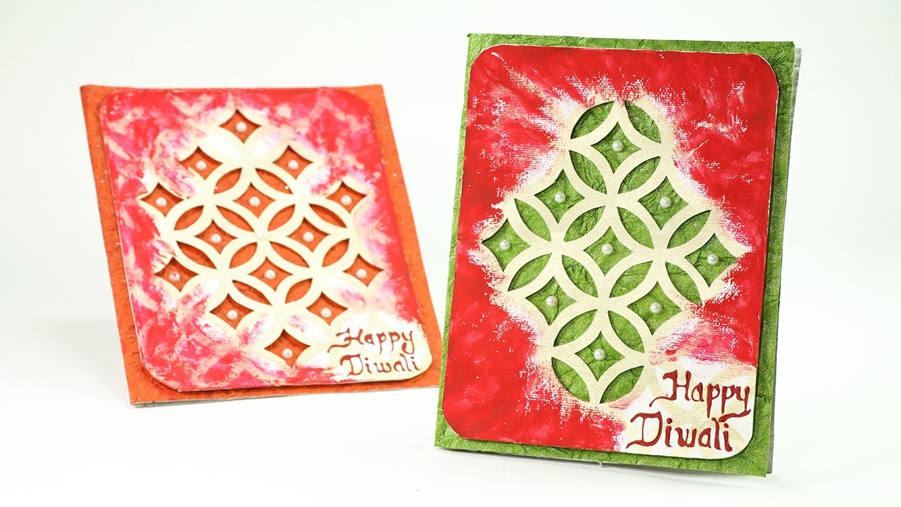 How To Make Diwali Cards Step By Step Greeting Cards Making Youtube