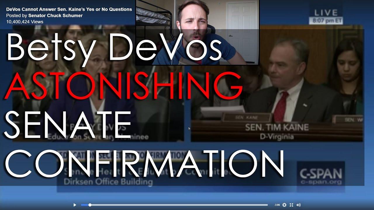 astonishing betsy devos senate confirmation hearing with tim kaine