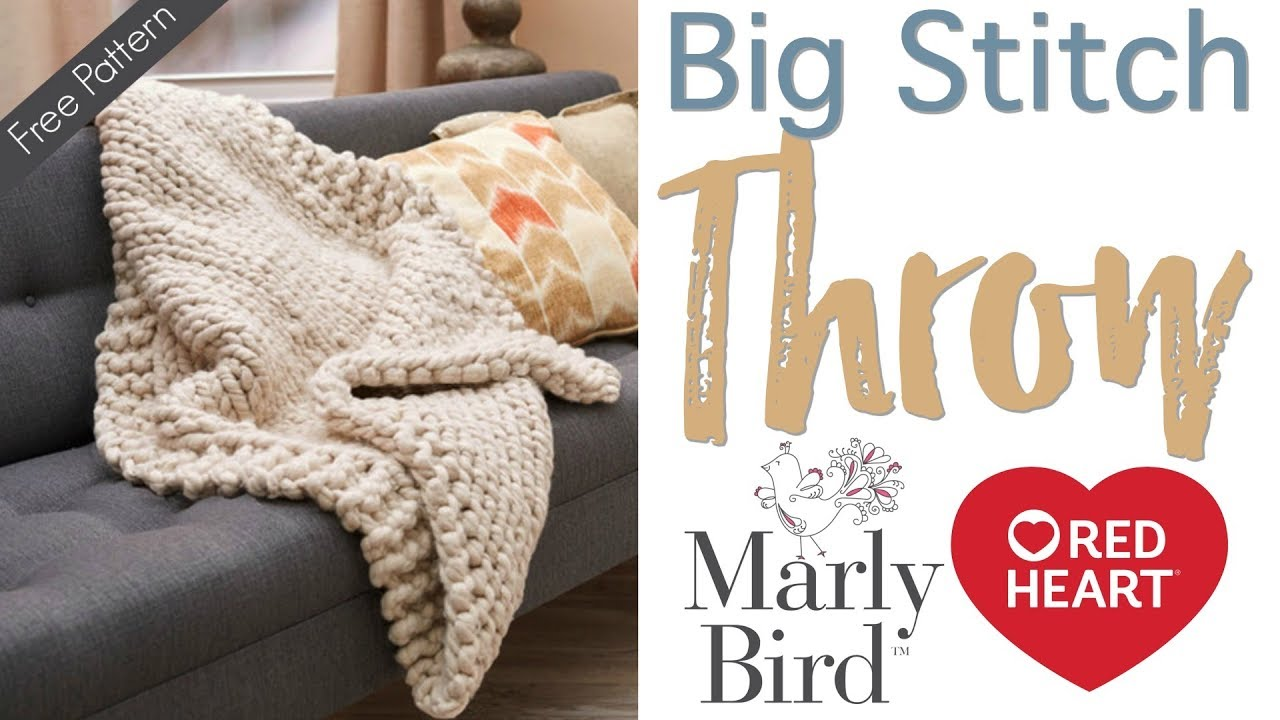 27e00640e6e6c How to Knit: Wonderful Big Stitch Throw with Marly and Marly's Mom