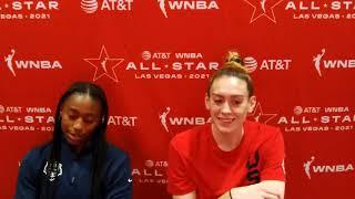 WNBA ALL-STAR: Team USA Breanna Stewart \u0026 Jewell Loyd Media Avail