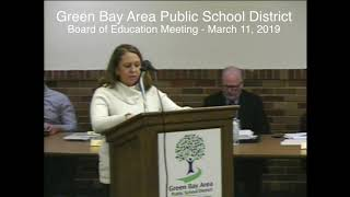 GBAPSD Board of Education Meeting: March 11, 2019