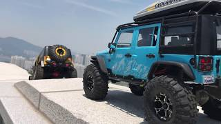 Two Jeep Rubicon JK  || Traxxas TRX-4 || MST CFX-W || Trail in Yeosu