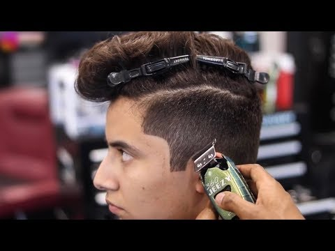BARBER TUTORIAL | POMPADOUR | #2 ON THE SIDES | BLOW DRY & STYLE