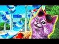 АКВАПАРК В ROBLOX Waterpark развлекательное видео говорящая КОШКА ЛАНА играет детский летсплей