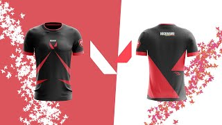 Esports Jersey Design tuto sur Photoshop CC 2017 ;)