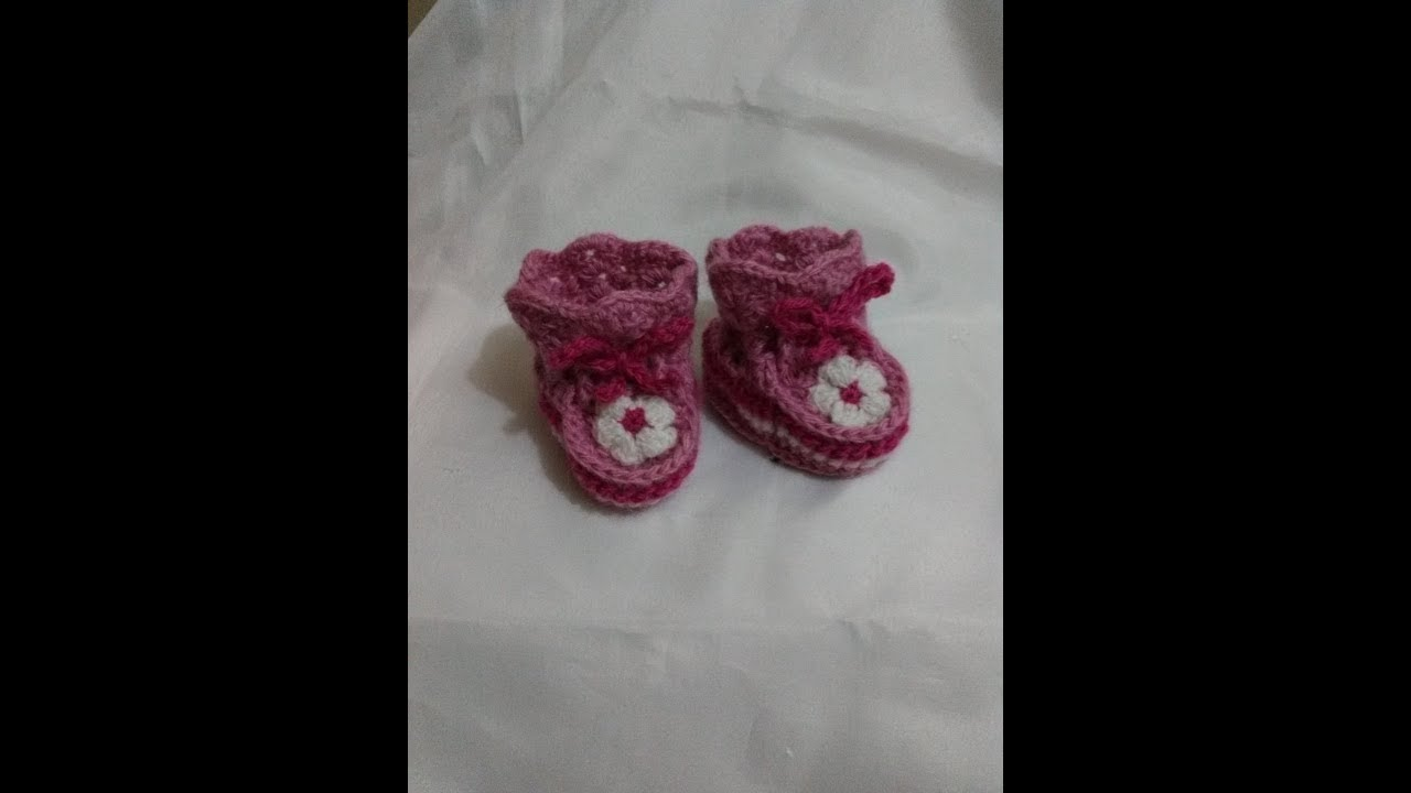 Zapatitos de Bebe: Patrones para tejerlos facilmente. - YouTube