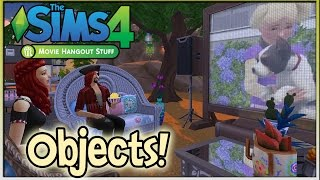 The Sims 4 Movie Hangout Stuff: Review (Part 1) - Objects!