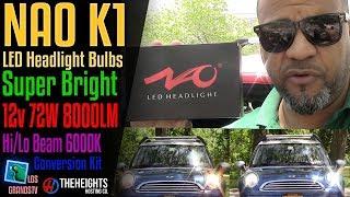 NAO K1 LED Headlight Hi-Lo Beam Dual Beam💡 : LGTV Review