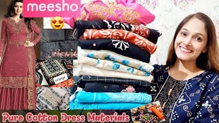 Best Meesho Unstiched suits/Pure cotton suits/partywear/Daily use wear