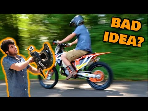 First ride on STOLEN DIRT BIKE!