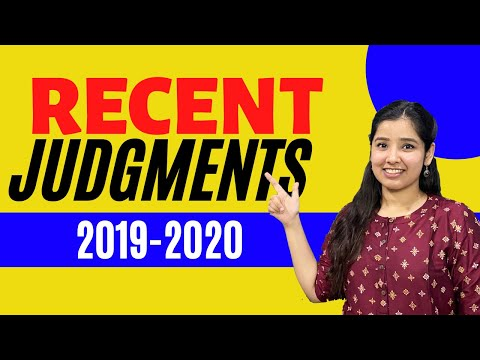 Important Recent Cases Of 2019-2020 | Major Landmark Judgments Of 2019 - 2020