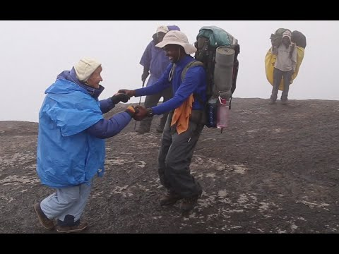 86yo Russian woman dances up Kilimanjaro mountain