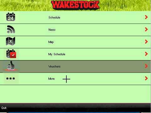 Wakestock Festival Official Blackberry App - J2ME / Android Freelancer