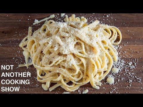 the ORIGINAL 3 ingredient FETTUCCINE ALFREDO recipe WITHOUT CREAM