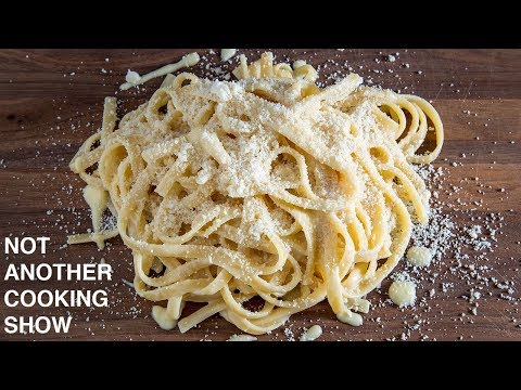 the ORIGINAL 3 ingredient FETTUCCINE ALFREDO recipe WITHOUT CREAM