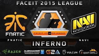 Fnatic vs NaVi - Inferno (FACEIT 2015 League)(Play on FACEIT for free: http://www.faceit.com FACEIT on Twitter: http://www.twitter.com/faceit FACEIT on Facebook: https://www.facebook.com/FaceitCommunity ..., 2015-04-15T08:26:05.000Z)