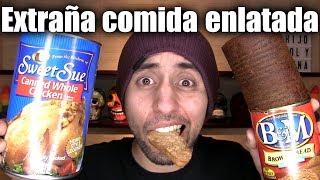 PROBANDO POLLO, PAN, HUEVITO Y SESOS ENLATADOS!!!! - ChideeTv thumbnail