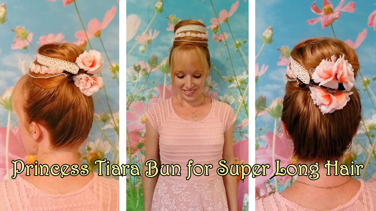 Princess Tiara Bun Tutorial Beautiful And Easy Updo For Long Hair