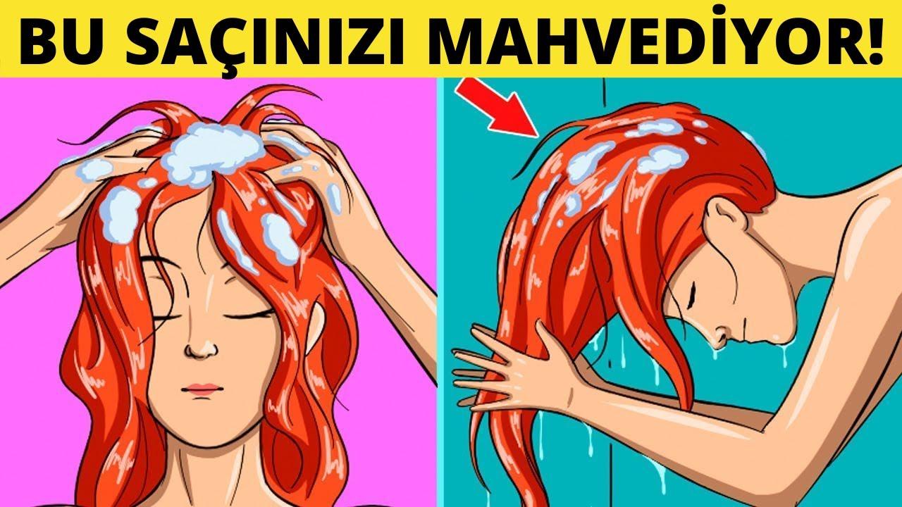 Saçınıza Zarar Veren ve Acilen Bırakmanız Gereken 10 Hata!