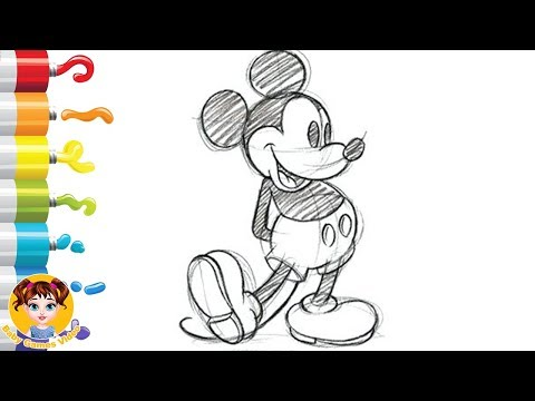 Mickey Mouse - How To Draw And Paint