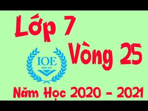 Đáp Án IOE Lớp 7 Vòng 25 Năm Học 2020 – 2021