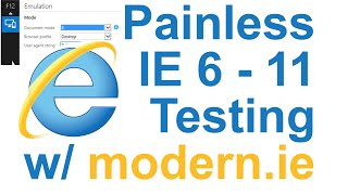 Painless IE Testing with Virtual Box and Modern.ie