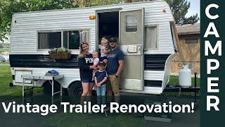 Vintage Trailer Renovation! — Full Overview Video