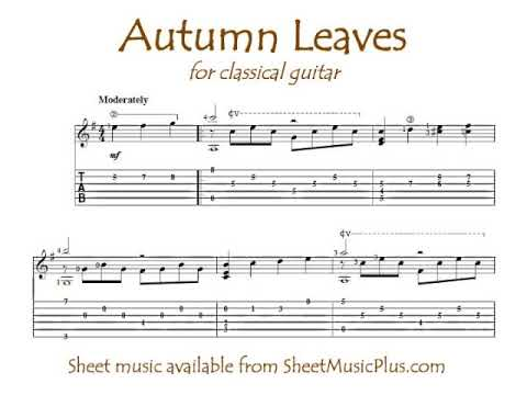 Autumn Leaves (solo classical guitar)
