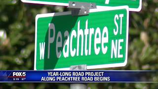 Year long road project along Peachtree Road begins
