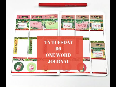 TN Tuesday// 365 One Word Journal Prompt//Surpze Stickers