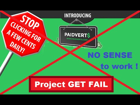 Paidverts 2016 no sense to work here make money online with Paidverts impossible: Hello friends today i want to tell you my conclusion about Paidverts.com For today 14.03.2016 making money online with Paidverts start to be imposible, the reason is very small price of cash links which we receive, i think this is because people running away from this project and searching for something else, so I officially declare that with Paidverts.com making money online start to be imposible, Earn online channel and me Tim Waider advice you to work with other projects, making money online and Paidverts.com two incompatible things. I'm Really sorry for this but this is true!  With Regards  Tim Waider  Start today here is how to start - https://www.youtube.com/watch?v=stpdF...  How to make money online from 5 to 30 dollars per day - https://www.youtube.com/watch?v=Co-zz...  Clickworker com best opportunity for making money https://www.youtube.com/watch?v=Zjtyg...  My contacts  Facebook: https://www.facebook.com/demidros Twitter: https://twitter.com/Gannikuss skype: llcenergoprom
