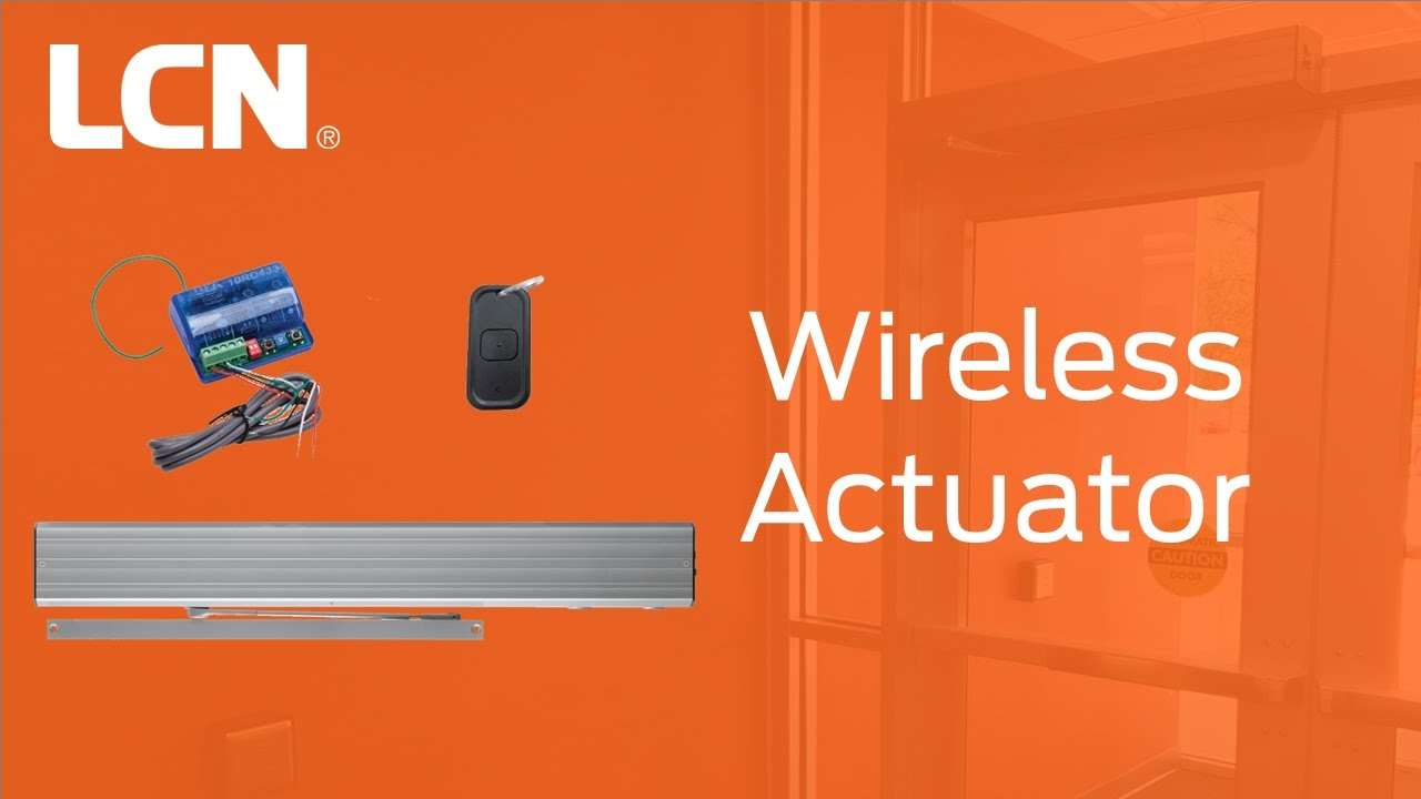 How To Connect And Program The Wireless Actuator For Lcn Automatic Operators Youtube