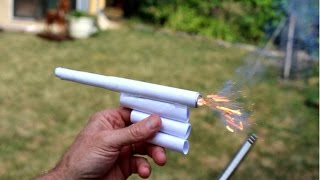 How To Make A Paper Firecracker Gun - With Shooting