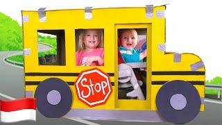 Roda di Bus | Wheels on the Bus | Lagu Anak-anak dari Katya dan Dima