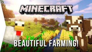 Beautiful Farming ► Minecraft #2 Survival Let's Play - Hillside Crops & Animal Husbandry!