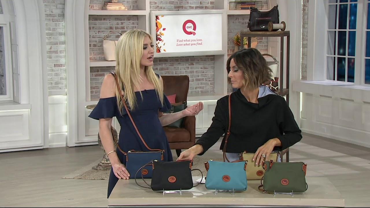 ee243fafa Dooney & Bourke Nylon Crossbody Pouchette Bag on QVC - YouTube