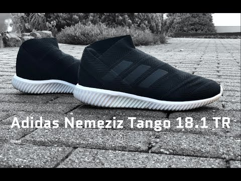 848a19efe6fb Adidas Nemeziz Tango 18.1 TR 'Shadow Mode Pack' | UNBOXING & ON FEET |  fitness & fashion shoes | 4K - YouTube
